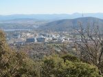 Canberra City from the Mt Ainslie lookout. You can see why it's called The Bush Capital.