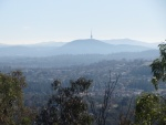 A view from the top of my local mountain, Mt Wanniassa, to the Black Mountain telecommunications tower.