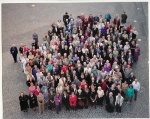 A 2000 visit to Scotland with our daughter Simone for an international gathering for our favourite author, Dorothy Dunnett. I'm right at the front, 3rd from left