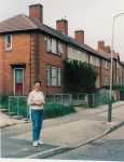 In 2004 I was in Leicester, UK, revisiting the house I was born in. It's the one immediately behind me
